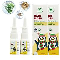 Combo 2 lọ xịt mũi viêm xoang, viêm mũi dị ứng cho trẻ em Matara Baby Nose, sản phẩm từ thiên nhiên, không gây đau buốt, an toàn cho trẻ khi sử dụng