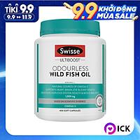 Viên Bổ Sung Omega 3 Không Mùi Swisse Wild Fish Oil 1,000mg Omega 3 - 400 viên (Hàng Nhập Khẩu Từ Úc)