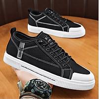 Giày Sneaker nam vải bò, giày thể thao nam kiểu dáng đơn giản, dễ phối đồ QA - 404
