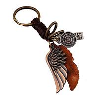 Móc Khóa Kim Loại Cao Cấp Cánh Thiên Thần - Móc Khóa Nam Cổ Điển Âu Mỹ Angel Wings Vintage Keychain