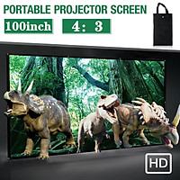 16:9/4:3 100inch Portable Foldable Projector Screen HD Home Theater