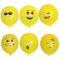 6 bong bóng cao su in hình emoji