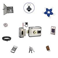 Bộ khóa cổng điện tử thẻ từ / remote/ chìa khóa cơ/  exit hồng ngoại thông minh SG-204UP