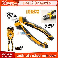 """Kìm cắt cách điện cao cấp INGCO 6"""" 7"""",chất liệu thép CrV chống rỉ sét siêu cứng tay cầm cao su mềm"""