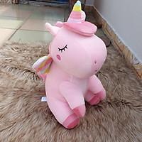 Kỳ lân unicorn nhồi bông size 40cm màu hồng