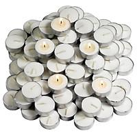 Bộ 100 nến tealight JYSK Pierey sáp/paraffin trắng 4x2cm