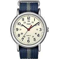 Timex Unisex T2N654MK Weekender Watch with Blue and Gray Nylon Strap ( 38mm )