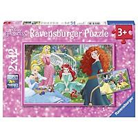 Bộ Xếp Hình Ravensburger Puzzle Chủ Đề Công Chúa Disney RV076208 (2 Bộ 12 Mảnh Ghép)