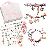 DIY Charm Bracelet Making Kit Bead Jewelry Charms for Girls Teens DIY Craft