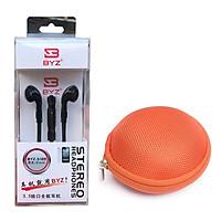 Bộ tai nghe nhét tai BYZ S389 và hộp đựng tai nghe Foxy - Hàng nhập khẩu