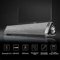 Soundbar bluetooth để bàn âm thanh siêu hay Loa Bluetooth, Loa Đôi, Âm Thanh Trung Thực, Hỗ Trợ Thẻ Nhớ, USB, Jack 3.5