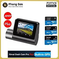 Camera hành trình 70mai Dash Cam Pro Plus , 70mai A500 Quốc tế , Tích hợp sẵn GPS - Hàng Chính Hãng