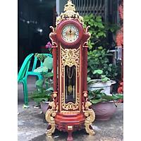 Đồng hồ để bàn Hoàng Gia gỗ Hương thếp vàng hàng siêu đẹp