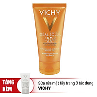 Kem Chống Nắng Bảo Vệ Da Không Gây Nhờn Rít Capital Idéal Soleil Mattifying Dry Touch Face Fluid Vichy (50ml) - Tặng Sữa Rửa Mặt Tẩy Trang 3 Tác Dụng Purete Thermale Vichy (15ml) - 100895572