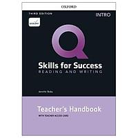 Q: Skills For Success: Intro Level: Reading And Writing Teacher's Handbook