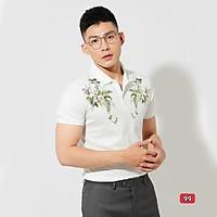 Áo polo nam cao cấp murad_fashion, áo thun nam màu trắng thêu hình đẹp phong cách thời trang nam 2021 atn99