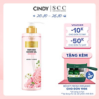 Sữa tắm nước hoa dưỡng ẩm sáng da Cindy Bloom Aroma Flower mùi hương ngọt ngào nữ tính 640g