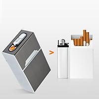 Hộp đựng thuốc có bật lửa điện, bật lửa sạc điện bằng USB