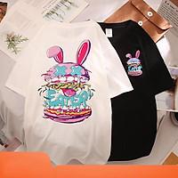 Áo phông nữ , áo thun tay lỡ form rộng chất cotton siêu mềm mịn thấm hút mồ hôi in hình thỏ C CK_1k