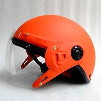 Mũ Bảo Hiểm có kính 1/2 đầu cam nhám
