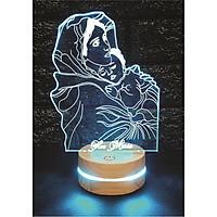 Eva Maria, Đèn 3D led, Đèn ngủ thay đổi 16 màu