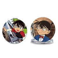 Gương TRÒN Conan gương bỏ túi anime chibi cầm tay 2 mặt dễ thương tiện lợi