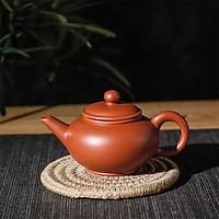 Ấm trà tử sa Nghi Hưng tiêu chuẩn dáng tròn vòi thẳng phụ kiện bàn trà trà đạo