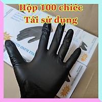 Găng tay không bột đen dùng trong thẩm mỹ viện, y tế