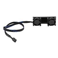 PCIE M.2 SSD 2280 3 Pin Kép Hoạt Động Làm Mát Quạt Tản Nhiệt Tản Nhiệt Vây Nhiệt-Đen