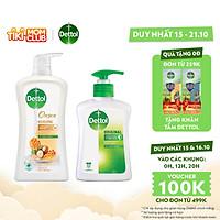 Bộ 1 chai sữa tắm Onzen mật ong kháng khuẩn dưỡng thể Dettol 950g/Chai và 1 nước rửa tay diệt khuẩn Dettol 250g/Chai