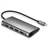 Hub USB Type-C 8 Cổng HDMI/USB 3.0/SD/TF/LAN Gigabit (RJ45) Ugreen 50538 - Hàng Chính Hãng