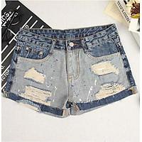 Quần shorts jean nữ phối màu Mã: QN900