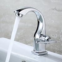 Vòi lavabo chỉ lạnh hợp kim kiểu mới cách tân - Hàng ITALIA TG có dây cấp nước
