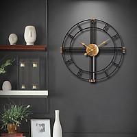 Đồng hồ treo tường trang trí phòng khách phong cách đơn giản