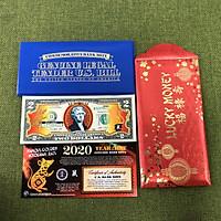 Bao lì xì Tờ 2 Đô La Mỹ hình Con Chuột mạ vàng 2020 (Hàng nhập khẩu)