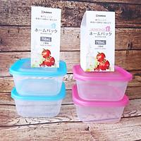Combo 4 hộp đựng thực phẩm cao cấp Nakaya 750ml (xanh & hồng)
