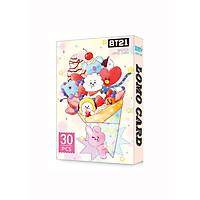Bộ Ảnh Thẻ BTS Lomo Card BT21