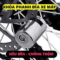 Khóa đĩa xe đạp, xe máy chất liệu thép không gỉ siêu bền dễ sử dụng