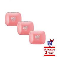 [combo 3 hộp] Kẹo bạc hà không đường Impact Mints - hương đào 14g (tặng kèm 3 gói Tempo)