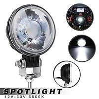 【18W】(3inch) LED COB Motorcycle Spotlight Sidelight Work Light Headlight SPOT Beam IP68 Waterproof Aluminum DC12-60V 6500K Universal For Car Motorcycle-WHITE