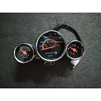 đồng hồ chế cho xe 67 ba chức năng báo bình báo xăng báo km tặng 1 cặp bao tay xe máy
