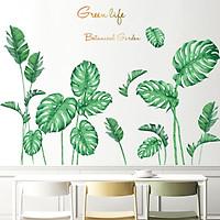 Decal dán tường Lá xanh nhiệt đới trang trí 5 trang trí phòng khách, phòng ngủ đẹp