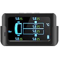 Bộ cảm biến áp suất lốp xe tải xe khách 6 bánh 9Bar kết nối không dây Pin mặt trời CAR365 Chính Hãng