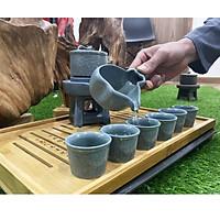 Hộp Quà Tết 2020 Bộ Ấm Chén Uống Trà Men Ngọc xanh Bảo Lục hàng nhập khẩu