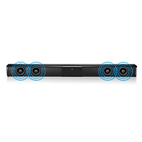 BT Sound Bar Wired & Wireless Stereo TV Soundbar 2000mAh Audio Speaker with Built-in Subwoofer Support Remote Control TF