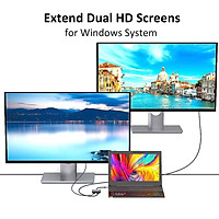 For HDMI Type C Adapter 4K C To Dual HDMI USB 3.0 Cable Charge Port Converter for MacBook for Samsung Dex Galaxy S10 / S9