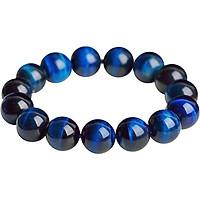 Vòng tay đá mắt hổ xanh dương MS199, vòng tay phong thủy hợp mệnh Thủy, Mộc, Thổ cho nam và nữ