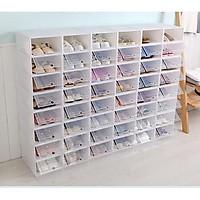 Hộp Đựng Giày Nắp Nhựa Cứng Trong Suốt, đựng giày dép, chất lượng cao, dễ lắp đặt