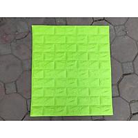 bộ 80 tấm xốp dán tường giả gạch sktt13 mầu xanh cốm 13