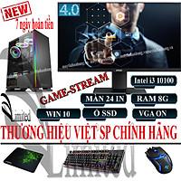 Bộ máy tính để bàn VLimited đời cao i3 10100f/8G/ SSD/HDD/VGA/24inch sản phẩm trọn bộ - Hàng chính hãng